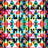 Modelo inconsútil geométrico abstracto brillante en estilo de la pintada ejemplo del vector de la calidad para su diseño Fotografía de archivo libre de regalías