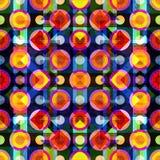 Modelo inconsútil geométrico abstracto brillante en estilo de la pintada ejemplo del vector de la calidad para su diseño Fotografía de archivo