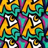 Modelo inconsútil geométrico abstracto brillante en estilo de la pintada ejemplo del vector de la calidad para su diseño Fotos de archivo
