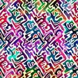 Modelo inconsútil geométrico abstracto brillante en estilo de la pintada ejemplo del vector de la calidad para su diseño Foto de archivo libre de regalías