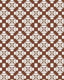 Modelo inconsútil geométrico abstracto Brown y modelo blanco con la línea Foto de archivo libre de regalías