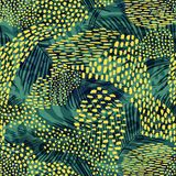 Modelo inconsútil geométrico abstracto con el estampado de animales Texturas dibujadas mano de moda stock de ilustración