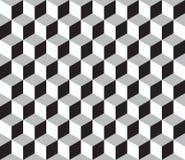 Modelo inconsútil geométrico abstracto con los cubos 3d stock de ilustración