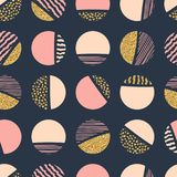 Modelo inconsútil geométrico abstracto de la repetición con los círculos libre illustration