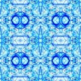 Modelo inconsútil geométrico azul de Ikat Imagen de archivo