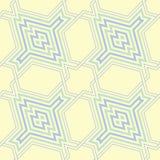 Modelo inconsútil geométrico azul y verde beige Foto de archivo libre de regalías