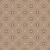 Modelo inconsútil geométrico beige y marrón Fotos de archivo