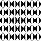 Modelo inconsútil geométrico blanco y negro con la línea ondulada de la raya Imagen de archivo