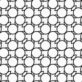 Modelo inconsútil geométrico blanco y negro con la línea y el ci ondulados Fotos de archivo