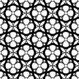 Modelo inconsútil geométrico blanco y negro con la línea y el ci ondulados Foto de archivo libre de regalías