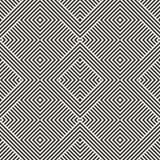 Modelo inconsútil geométrico blanco y negro con las líneas diagonales, cuadrados, rayas libre illustration