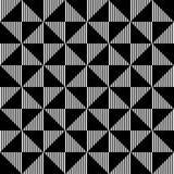 Modelo inconsútil geométrico blanco y negro, fondo abstracto Fotografía de archivo libre de regalías