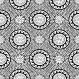 Modelo inconsútil geométrico blanco y negro griego Vector Monochr stock de ilustración
