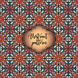 Modelo inconsútil geométrico colorido abstracto Textura floral del fondo Foto de archivo libre de regalías