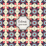 Modelo inconsútil geométrico colorido abstracto Textura floral del fondo Fotografía de archivo libre de regalías