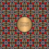 Modelo inconsútil geométrico colorido abstracto Textura floral del fondo Fotografía de archivo