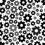 Modelo inconsútil geométrico con los engranajes negros Vector libre illustration
