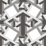 Modelo inconsútil geométrico 3d Foto de archivo libre de regalías