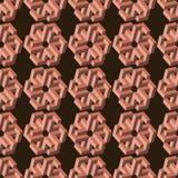 Modelo inconsútil geométrico 3d Foto de archivo