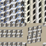 Modelo inconsútil geométrico 3d Imágenes de archivo libres de regalías