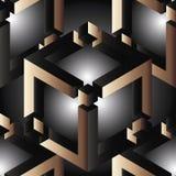 Modelo inconsútil geométrico 3d Fotografía de archivo libre de regalías