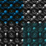 Modelo inconsútil geométrico 3d Fotos de archivo