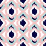 Modelo inconsútil geométrico de Ikat Colección rosada y azul ilustración del vector
