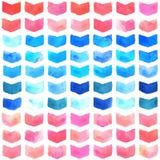 Modelo inconsútil geométrico de la acuarela Imagen de archivo libre de regalías