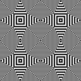 Modelo inconsútil geométrico de la ilusión óptica con las rayas blancos y negros ilustración del vector
