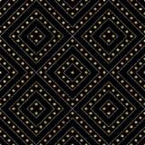 Modelo inconsútil geométrico de las líneas y del círculo diagonales de la plata del oro Fotos de archivo
