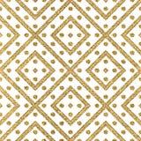 Modelo inconsútil geométrico de las líneas y del círculo diagonales del oro Foto de archivo