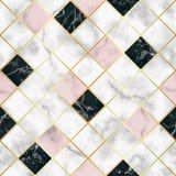 Modelo inconsútil geométrico de lujo de mármol Imagen de archivo