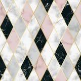 Modelo inconsútil geométrico de lujo de mármol Imágenes de archivo libres de regalías