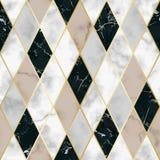 Modelo inconsútil geométrico de lujo de mármol Fotos de archivo