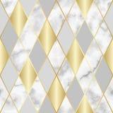 Modelo inconsútil geométrico de lujo de mármol Imagenes de archivo