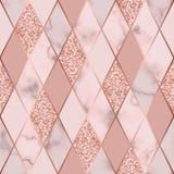 Modelo inconsútil geométrico de lujo de mármol Fotos de archivo libres de regalías