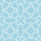 Modelo inconsútil geométrico del azul marino y blanco Imagenes de archivo