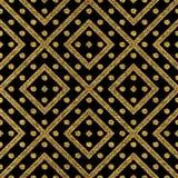 Modelo inconsútil geométrico del brillo del oro de líneas y de puntos diagonales Imagen de archivo libre de regalías