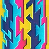 Modelo inconsútil geométrico del color brillante stock de ilustración