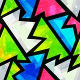 Modelo inconsútil geométrico del grunge brillante libre illustration