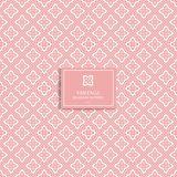 Modelo inconsútil geométrico del rosa y blanco mínimo Ornamento ilustración del vector