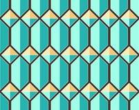 Modelo inconsútil geométrico del vector con las joyas Imagenes de archivo