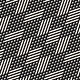 Modelo inconsútil geométrico del vector Líneas diagonales blancos y negros, Rhombus ilustración del vector