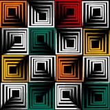 Modelo inconsútil geométrico del vector lindo Movimientos del cepillo, cuadrados Textura dibujada mano del grunge Formas abstract Imagen de archivo libre de regalías