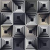 Modelo inconsútil geométrico del vector lindo Movimientos del cepillo, cuadrados Textura dibujada mano del grunge Formas abstract Fotografía de archivo libre de regalías