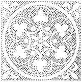 Modelo inconsútil geométrico del vector Repetición de puntos abstractos Foto de archivo