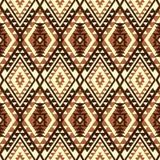 Modelo inconsútil geométrico en estilo étnico stock de ilustración
