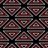 modelo inconsútil geométrico Fondo blanco rojo negro Imagen de archivo