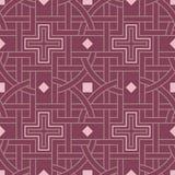 modelo inconsútil geométrico Fondo rojo púrpura Imágenes de archivo libres de regalías