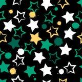 Modelo inconsútil geométrico lindo El strokesand del cepillo protagoniza y borra Textura dibujada mano del grunge Formas abstract Fotos de archivo